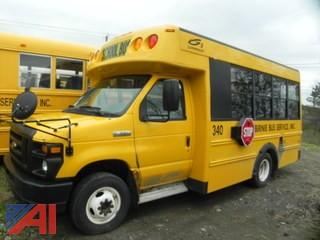 (#340) 2008 Ford E350 Super Duty Mini School Bus