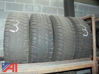 (#3) LT245/75R16 Snow Tires w/ Studs