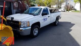2009 Chevy Silverado 2500HD Pickup Truck with Plow and Sander