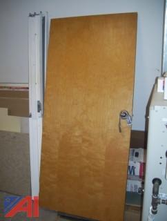 Wood Door with Metal Frame