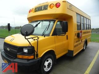 (#61) 2008 Chevy Express 3500 School Bus with Wheel Chair Lift