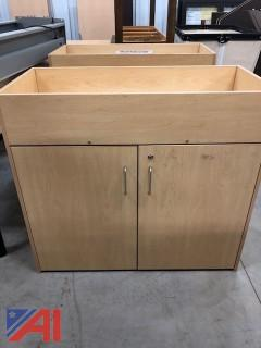 Changing Tables/Maple Cabinets