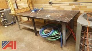 Steel Top Table & Hoses