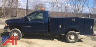 2003 Dodge Ram 2500 Pickup with Utility Body and Plow