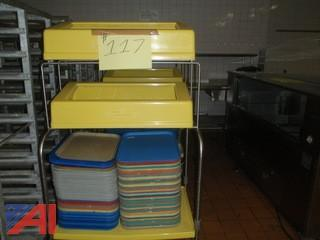 (#117) Tray Cart with Trays