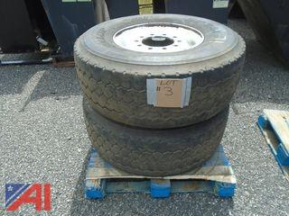**Lot Updated** Steel Rims with Tires