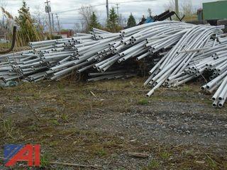 "Large Lot of 1"" x 1/4"" PVC Conduit Piping"