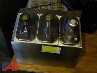 3 Bay Syrup Dispenser
