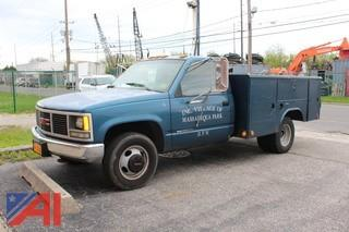 1992 GMC C/K 3500 Reading Utility Truck with Lift