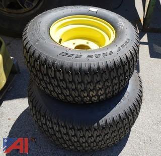Pair of John Deere New 22 x 9.50-10 Tires & Rims