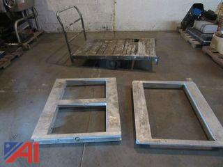 Heavy Duty Industrial Cart and (2) Metal Dollies