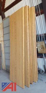 Oak Wood Folding Tables