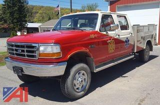 1997 Ford F350 Super Crew Fire Rescue Truck
