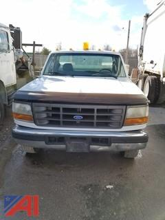 1995 Ford F350 XL Pickup Truck with Utility Body