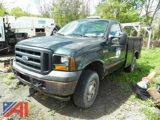 2006 Ford F350 XL Super Duty Pickup Truck with Utility Body