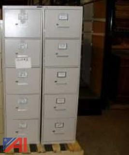 5 Drawer Vertical Filing Cabinets