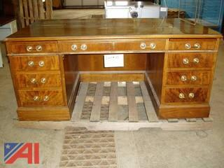 Executive Desk with Glass Top