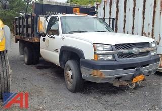 2003 Chevrolet Silverado 3500 Stake Rack Dump Truck