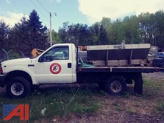 2001 Ford F350 XL Super Duty Flatbed Truck with Sander