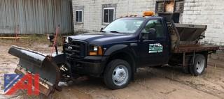 **UPDATED** 2006 Ford F450 Super Duty Flatbed with Sander and Plow