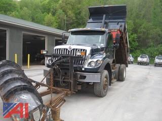2009 International 7600 Dump Truck with Plow