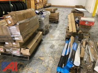 Pallets of New Mixed LED Lighting Fixtures and Bulbs