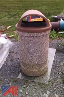 Wausau Round Concrete Waste Receptacle