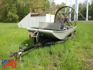 1993 Classic Panther Air Boat 7 x 15 Boat with Trailer