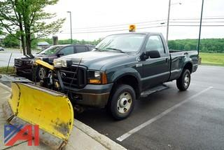 2007 Ford F250 XL Super Duty Pickup Truck with V-Plow
