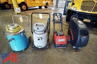 Assortment of Floor Cleaning Equipment