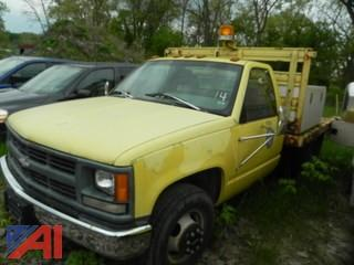 (#14) 1996 Chevy C/K 3500 Flatbed Truck
