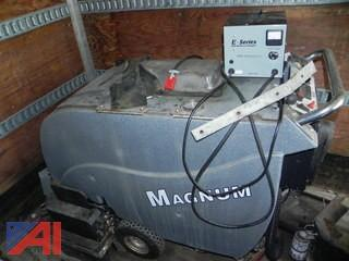 Magnum Floor Scrubbers with Charging Boxes