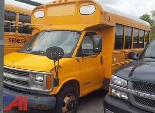 2001 Chevrolet CT 3500 Mini Wheelchair School Bus