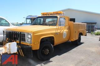 1988 GMC V3500 Utility Truck