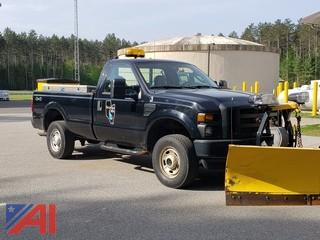 2010 Ford F250 XL Super Duty Pickup Truck with Plow and Tailgate Sander