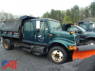 2001 International 4700 Dump Truck with Plow and Sander