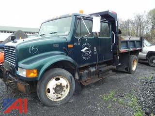 2001 International 4700 Dump Truck with Plow