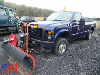 2009 Ford F250 XL Super Duty Pickup Truck with V-Plow