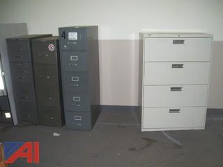 Metal Files and Desk