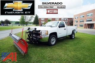 2011 Chevy Silverado 3500 HD Pickup Truck with Plow