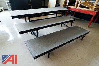 Matching Sets of 3 Level Choral Carpeted Risers