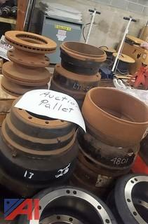 Pallet of Various Drums & Rotors