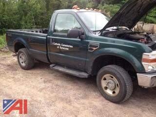 2008 Ford F250 XL SuperDuty Pickup Truck with Plow
