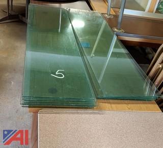 Panels of Glass Shelving