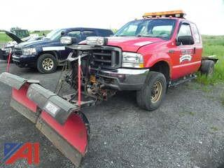 2003 Ford F250 Super Duty Cab and Chassis with Plow
