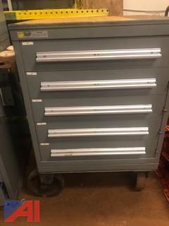 5 Drawer Stanley Vidmar Tool Cabinet