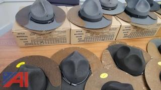 Campaign Stetson Style Police Uniform Covers/Hats and Hat Presses