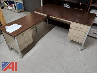 Brown Top Desk-2 Piece