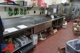 Stainless Steel Prep Table with 2 Bay Sink