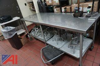 Mobile Stainless Steel Prep Table